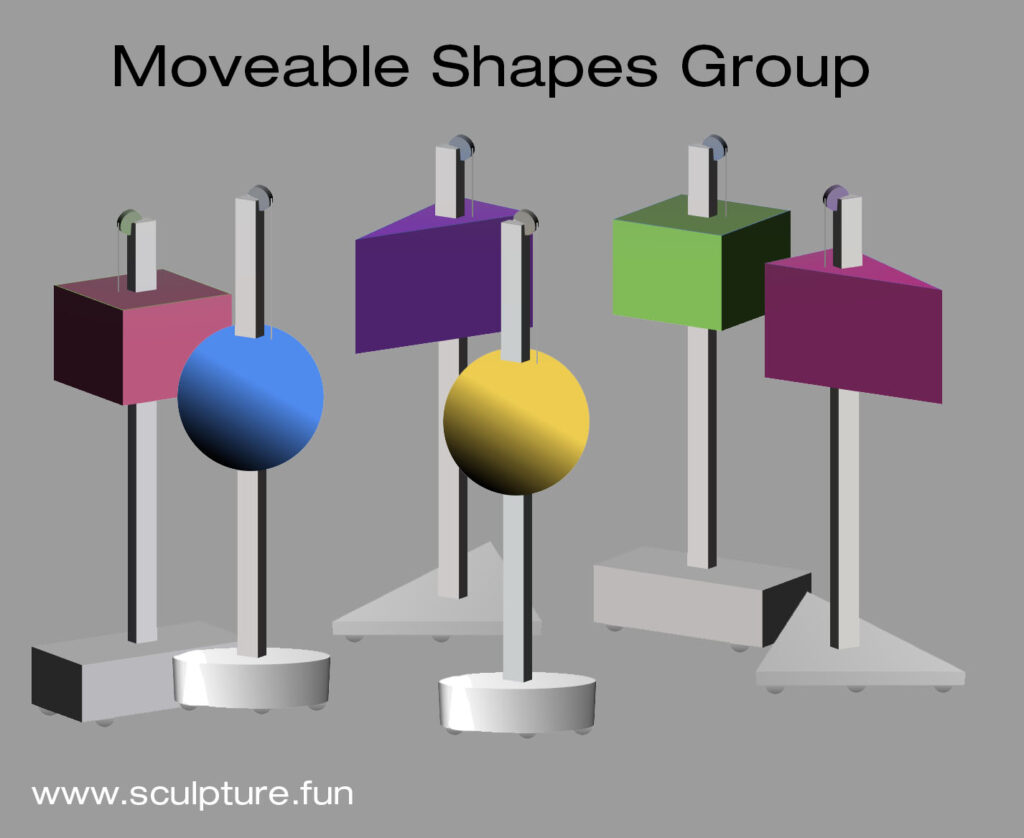 movable shapes on stands
